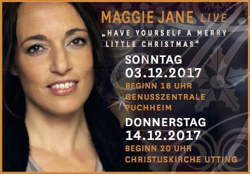 Sängerin Maggie Jane Jezza Anzeige Maggie Jane Weihnachtskonzert 2017_2