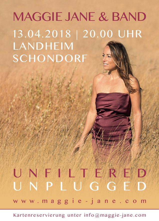 Sängerin Maggie Jane Maggie Jane_Unplugged_Postkarte (1)